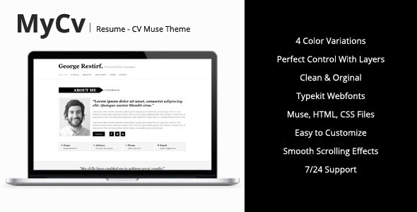 My Cv - Resume Muse Template