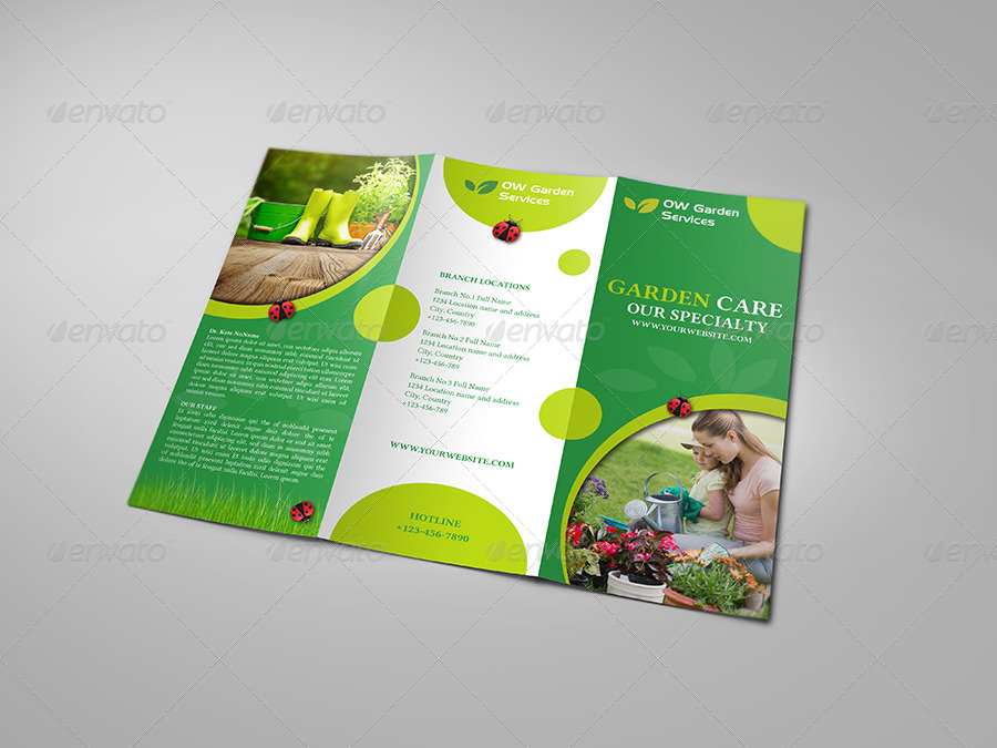 nursery brochure templates free - garden services tri fold brochure template by owpictures