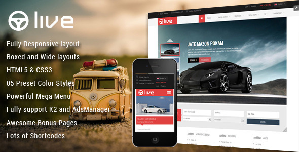 SJ Live – Responsive Classified Joomla Template