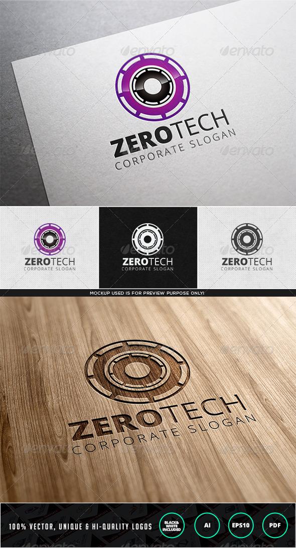 Zero Tech Logo Template - Numbers Logo Templates