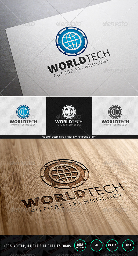 World Tech Logo Template - Objects Logo Templates