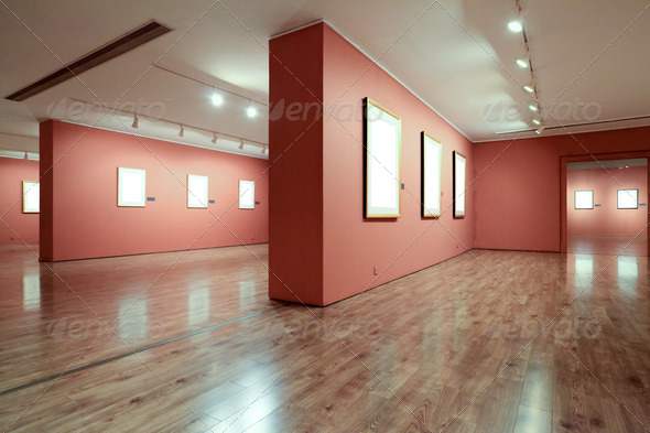 frame in art gallery - Stock Photo - Images