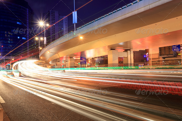 night city highway traffic - Stock Photo - Images