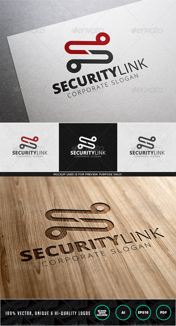 Security Link Logo Template - Letters Logo Templates