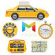 Taxi Design Elements - GraphicRiver Item for Sale