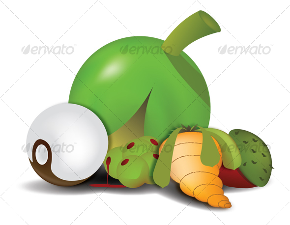Alien Fruit - Food Objects
