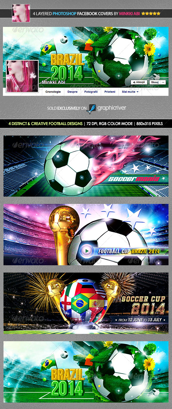 4 Football Facebook Covers - Facebook Timeline Covers Social Media