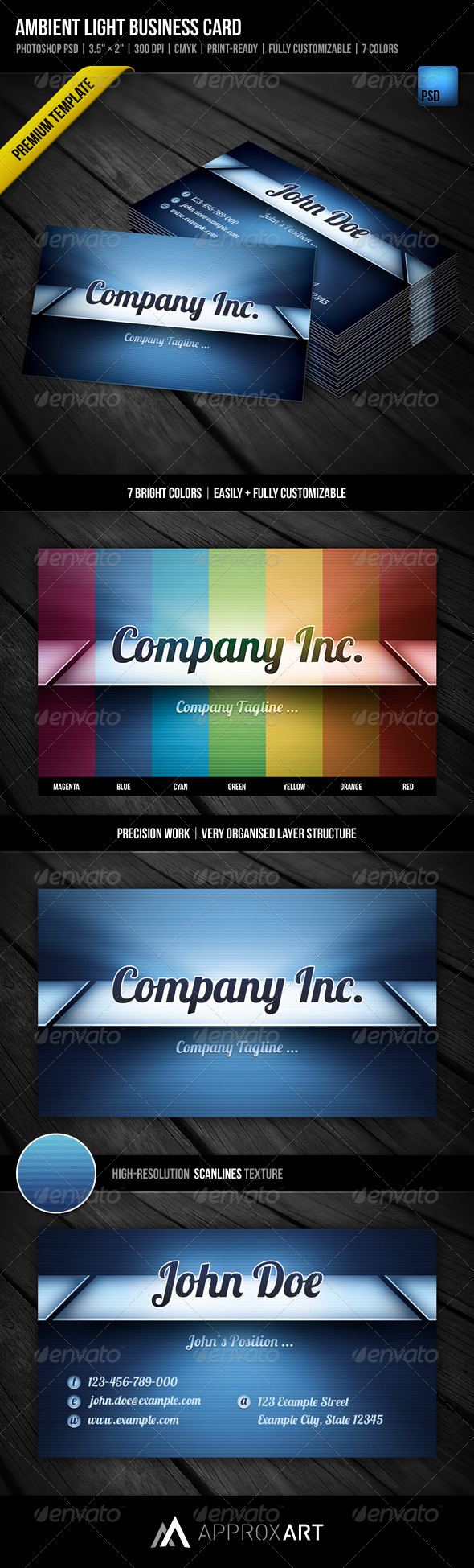 Ambient Light Business Card - Creative Business Cards