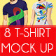 8 T-Shirt Mock Up - GraphicRiver Item for Sale