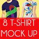 8 T-Shirt Mock Up - GraphicRiver Item for Sale