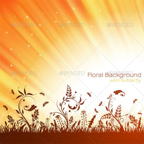 Nature Background - Flourishes / Swirls Decorative