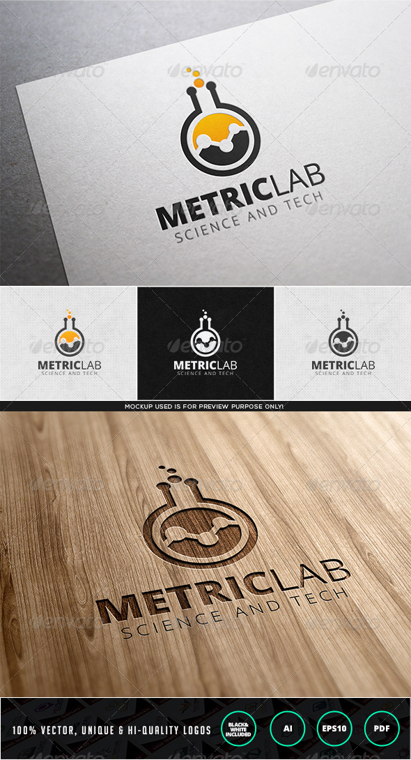Metric Lab Logo Template - Objects Logo Templates