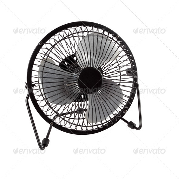 small electric fan - Stock Photo - Images