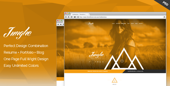 Junghe - One Page Personal Portfolio Templates - Personal PSD Templates