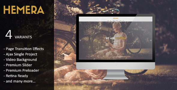 Hemera – Responsive Unique HTML 5 Template