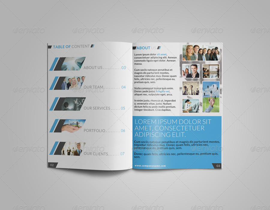 8 Page Corporate Bi Fold Brochure Template 2 By Creativesourceonline