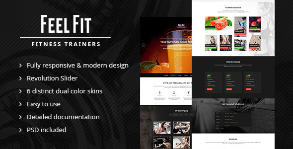 Personal Trainer – One Page HTML5 Template