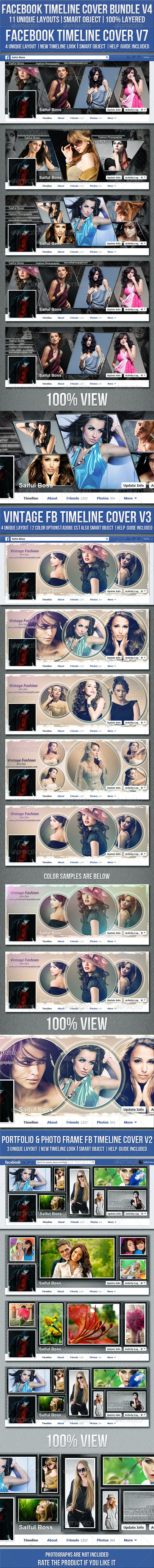 Facebook Timeline Cover Bundle V4 - Facebook Timeline Covers Social Media