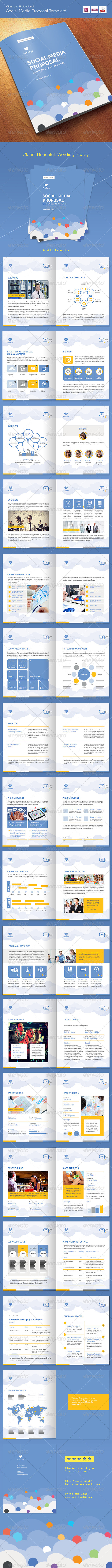 Social Media Proposal Template By Afahmy GraphicRiver - Social media proposal template