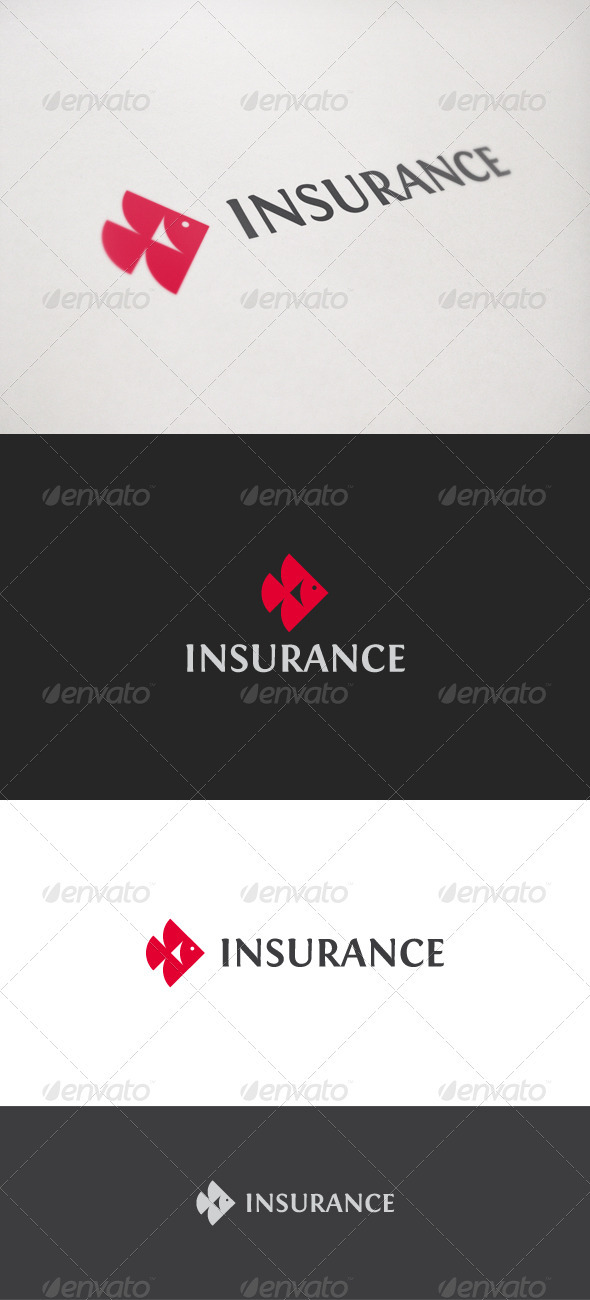Insurance Fish - Animals Logo Templates