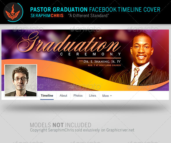 pastor graduation facebook timeline cover template by seraphimchris