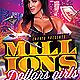Millions Dollars Girls Party Flyer