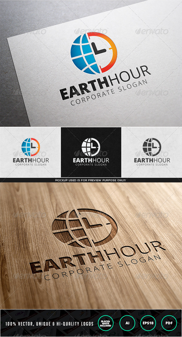Earth Hour Logo Template - Nature Logo Templates