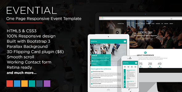 Evential - One Page Responsive Event Template - Events Entertainment