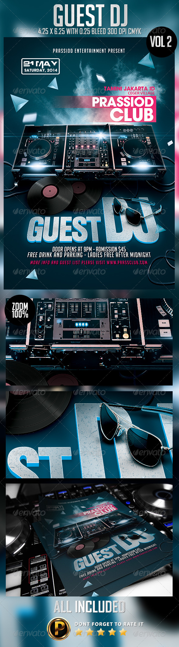 Guest DJ Flyer Template Vol 2 - Clubs & Parties Events