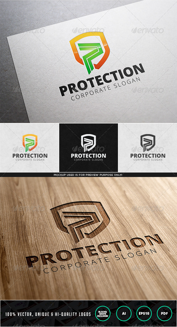 Protection Logo Template - Letters Logo Templates