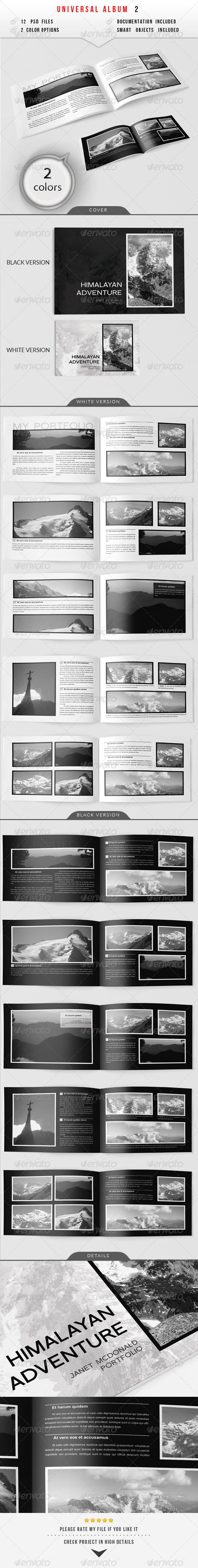 Universal Album 2 - Photo Albums Print Templates