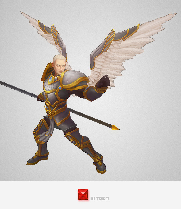 Low Poly Angel Male - 3DOcean Item for Sale