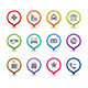 Map Pins With Icons. - GraphicRiver Item for Sale