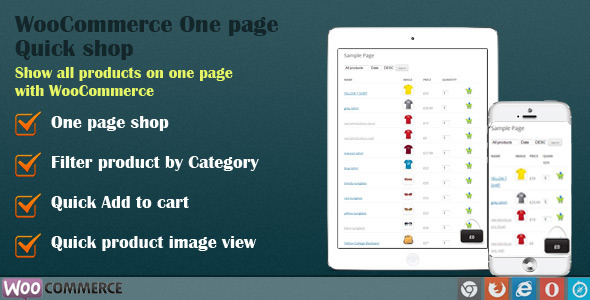 WooCommerce Quick Order One Page Shop - CodeCanyon Item for Sale
