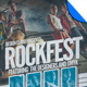 Rock Fest Grunge Flyer Poster Template