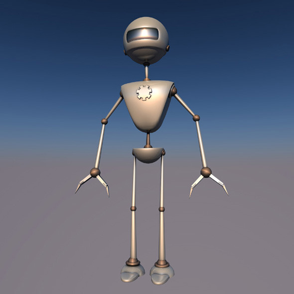 Robotic 3d character ( X-JV1.0 ) rigged alien droid - 3DOcean Item for Sale