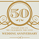Vintage Flourish Anniversary Invitation - GraphicRiver Item for Sale