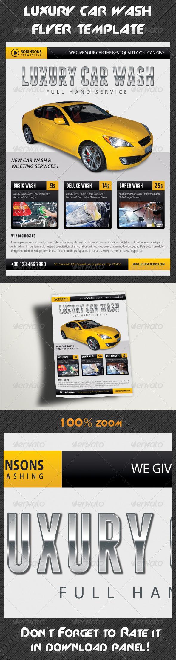 Car Wash Flyer 03 - Commerce Flyers