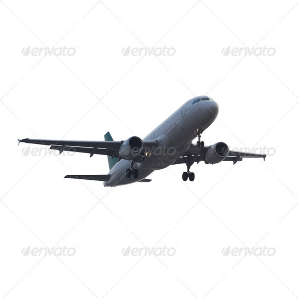 modern airplane isolated - Stock Photo - Images