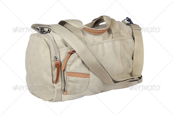 canvas travel bag isolated - Stock Photo - Images