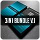 3in1-Business Card Bundle V.1 - GraphicRiver Item for Sale