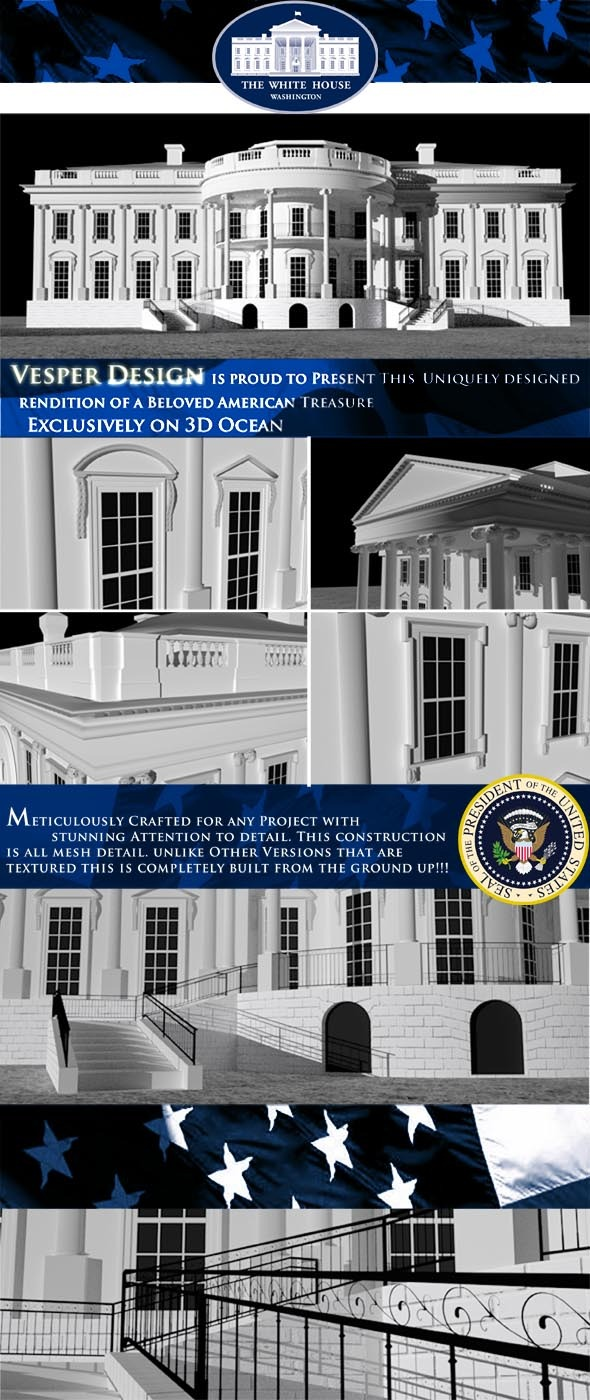 The White House - 3DOcean Item for Sale