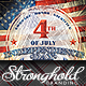 Vintage 4th of July Event Flyer Template - GraphicRiver Item for Sale