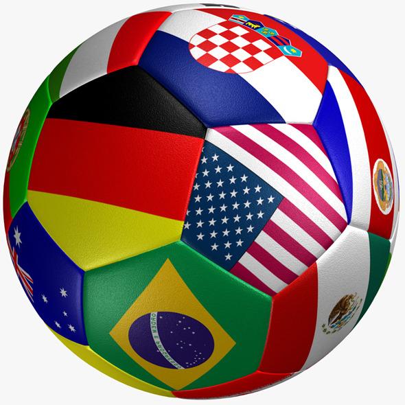 Soccer Ball Flag - 3DOcean Item for Sale