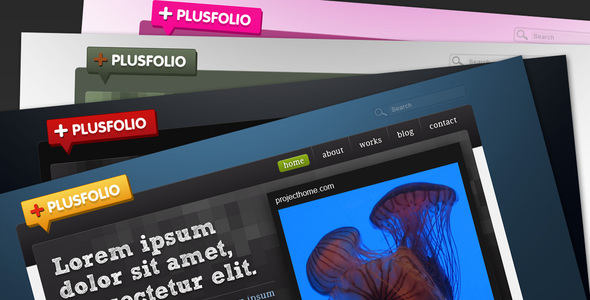 plusfolio – portfoli+blog theme – 4 colors