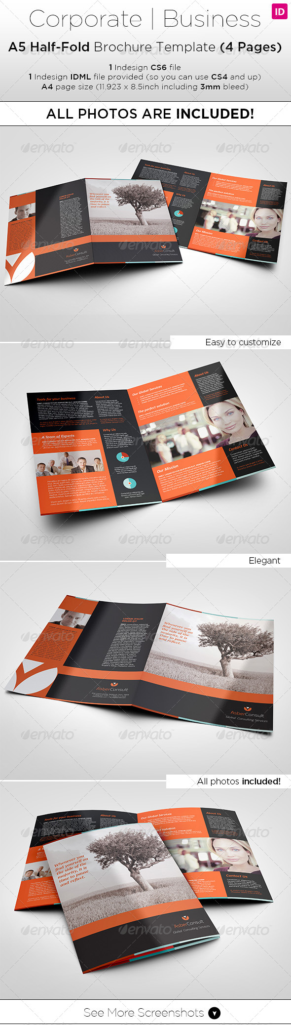 Half Page Flyer Stationery And Design Templates Brochure A5 Custom