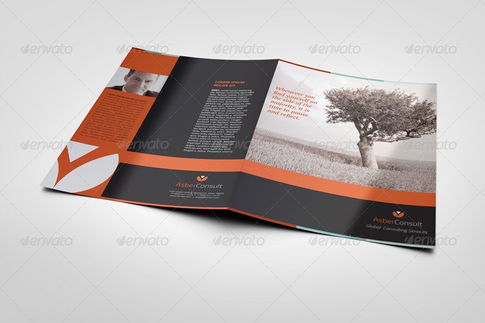 a5 half fold brochure 4 pages photo included by illusiongraphic