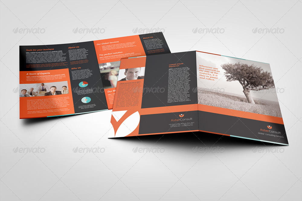 A5 Half-Fold Brochure (4 pages) - Photo Included by Illusiongraphic