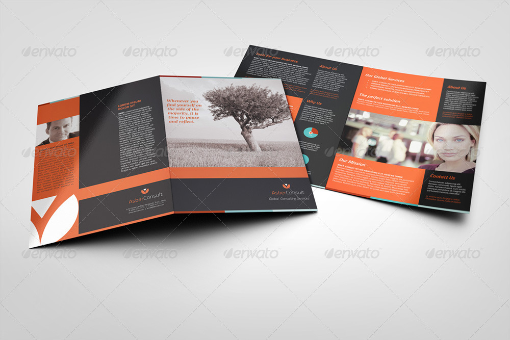 A HalfFold Brochure  Pages  Photo Included By Illusiongraphic