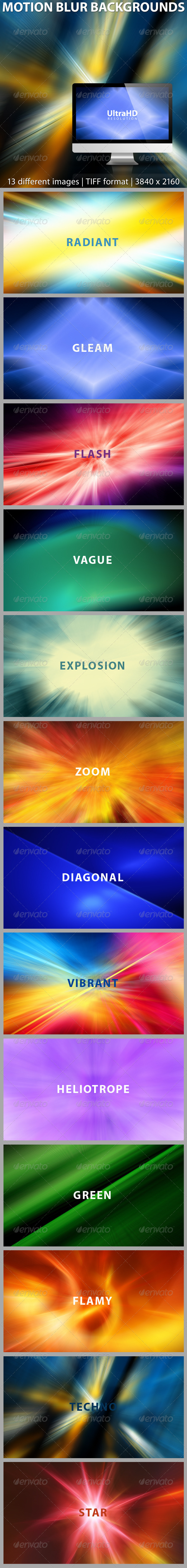 Abstract Motion Blur Backgrounds - Abstract Backgrounds